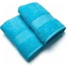 Casilin Royal Touch - Badlaken - Turquoise - 65 x 125 cm - Set van 2