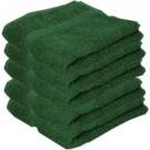 5x Luxe handdoeken donkergroen 50 x 90 cm 550 grams - Badkamer textiel badhanddoeken